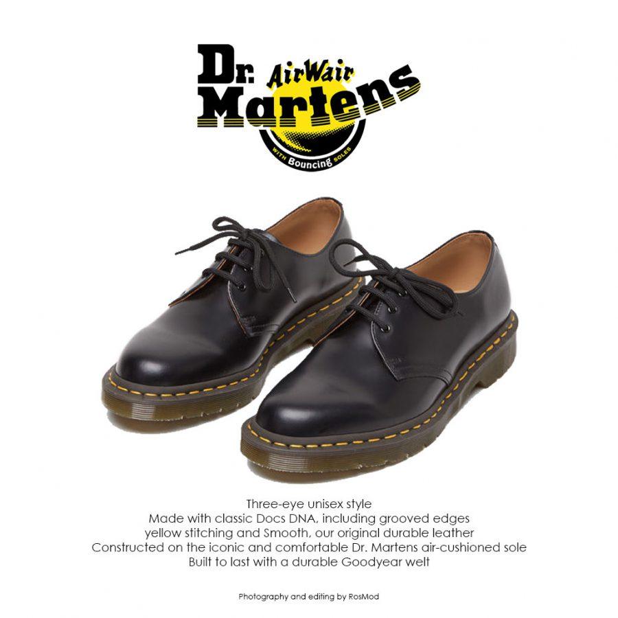 کفش سه بند مشکی دکتر مارتینز