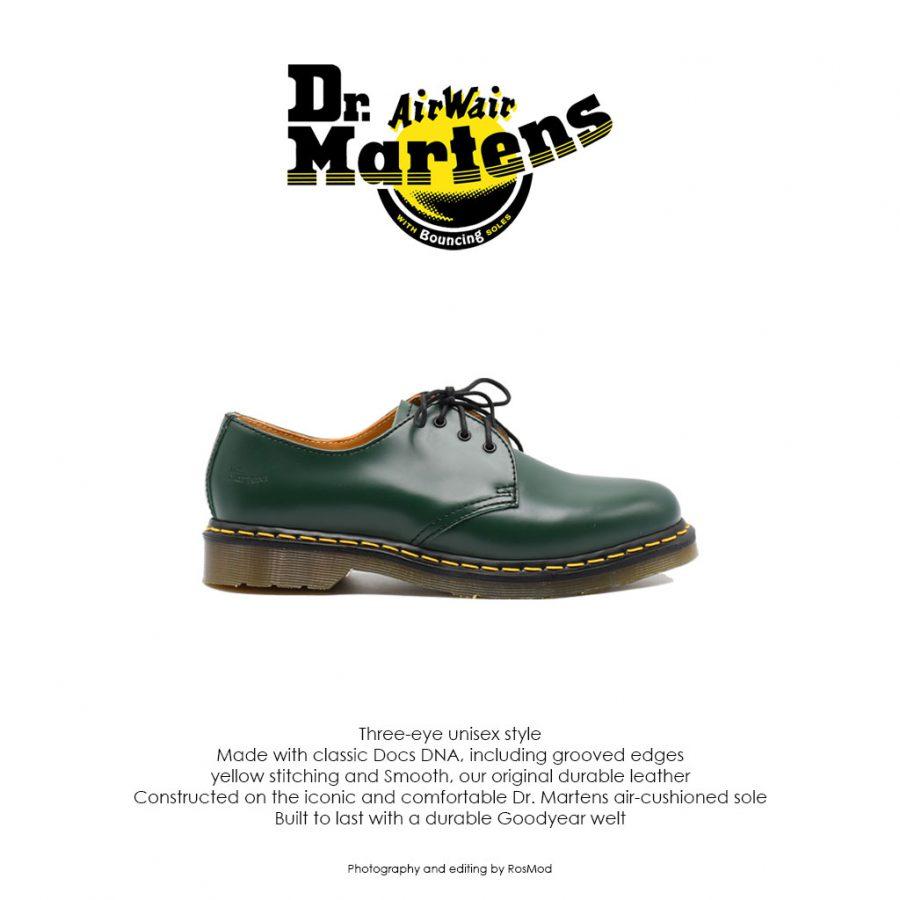 کفش سه بند سبز دکتر مارتینز