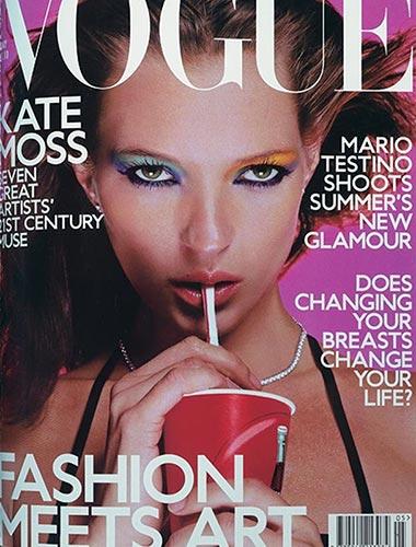 عکس ماس روی جلد مجلهی ووگ انگلستان در می 2000، عکاس: سارا موریس