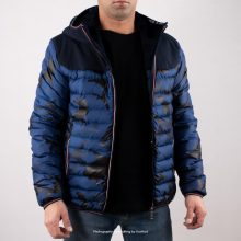 Moncler Puffer Jacket Longue Saison Light Navy
