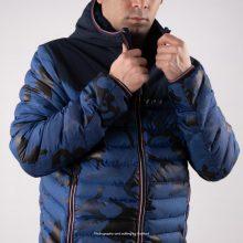 Moncler Puffer Jacket Longue Saison Light Navy