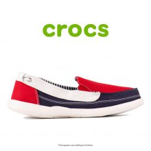 Crocs Walu Canvas Loafer Red/Oyster