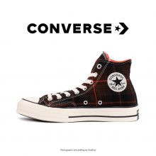 کانورس آل استار - Converse Plaid Chuck 70 Black/Bright/Crimson Egret