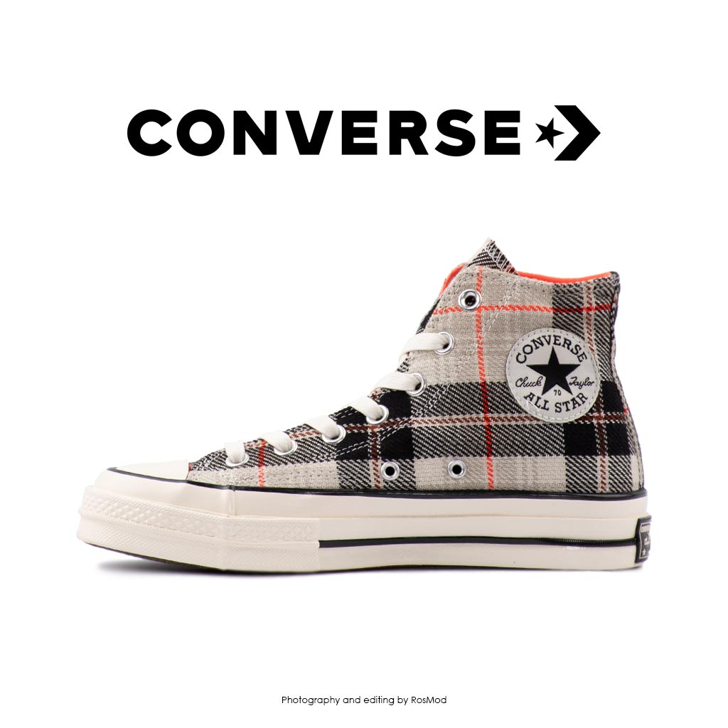 کتانی کانورس آل استار - Converse Plaid Chuck 70 Bright/Crimson/Egret