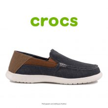 لوفر مردانه کراکس - Crocs Santa Cruz2 Luxe M Navy/Hazelnut