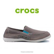 لوفر مردانه کراکس - Crocs Walu Accent Men Charcoal/Electric Blue