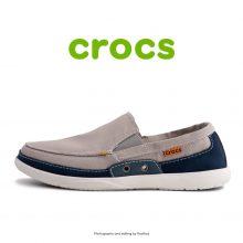 لوفر مردانه کراکس - Crocs Walu Accent Men Light Grey/Navy