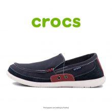 لوفر مردانه کراکس - Crocs Walu Accent Men Navy/True Red