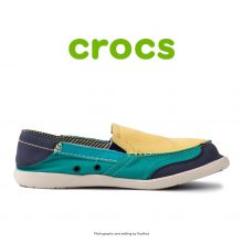 لوفر زنانه کراکس - Crocs Walu Express Buttercup/Tropical Teal