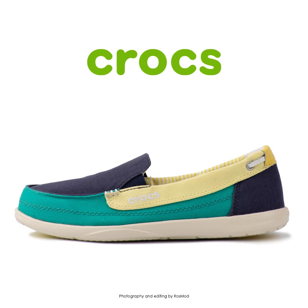 لوفر زنانه کراکس - Crocs Walu Loafer Nautical Navy/Tropical Teal