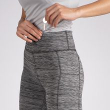لگ اسلیم افکت جیبدار طوسی راه راه - Agi Slim Effect Leggings Gri Melanj