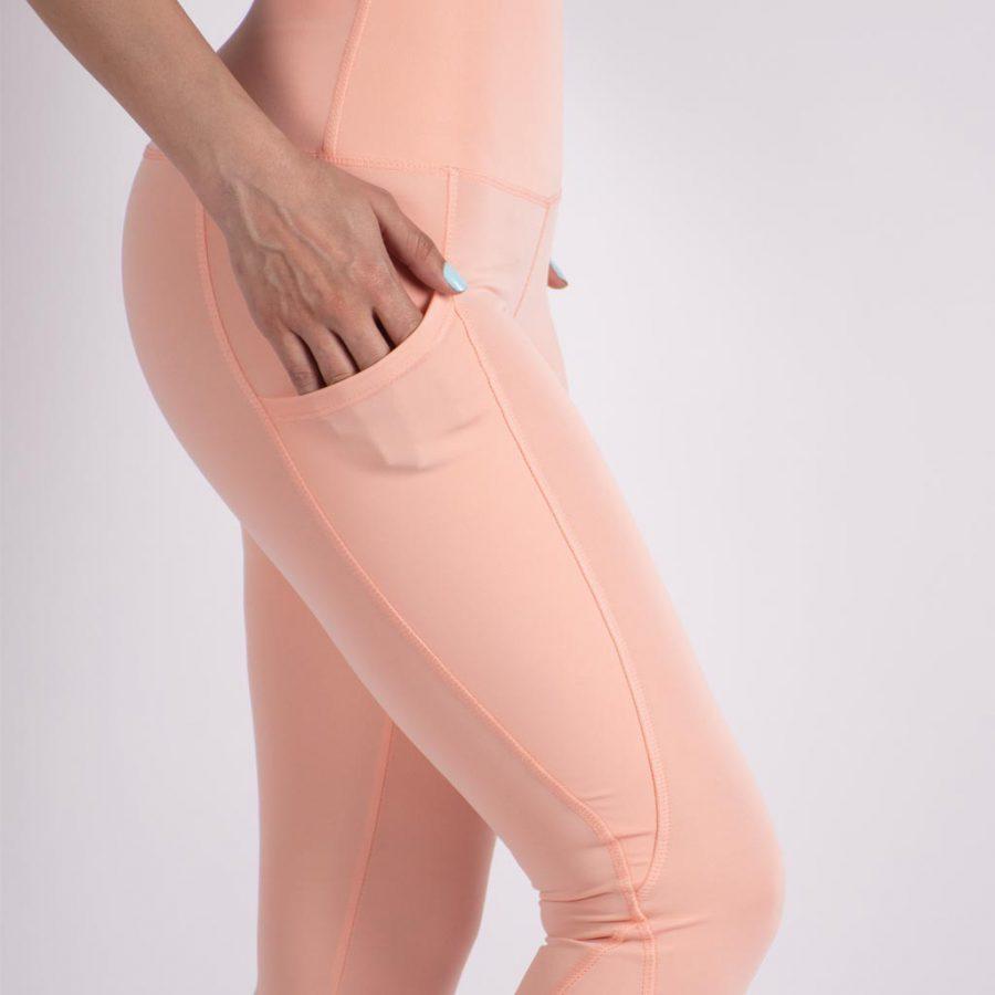 لگ اسلیم افکت جیبدار هلویی – Agi Slim Effect Leggings Şeftali