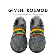 گیوه دودی طرح دار - Giveh Grey Kurdish Pattern
