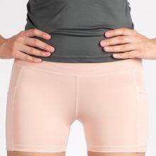 شلوارک کوتاه اسلیم افکت صورتی روشن جیبدار - Agi Slim Effect Shorts Gül Kurusu