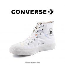 کتانی کانورس آل استار کات لاین سفید - Converse Cut Line White High Tops