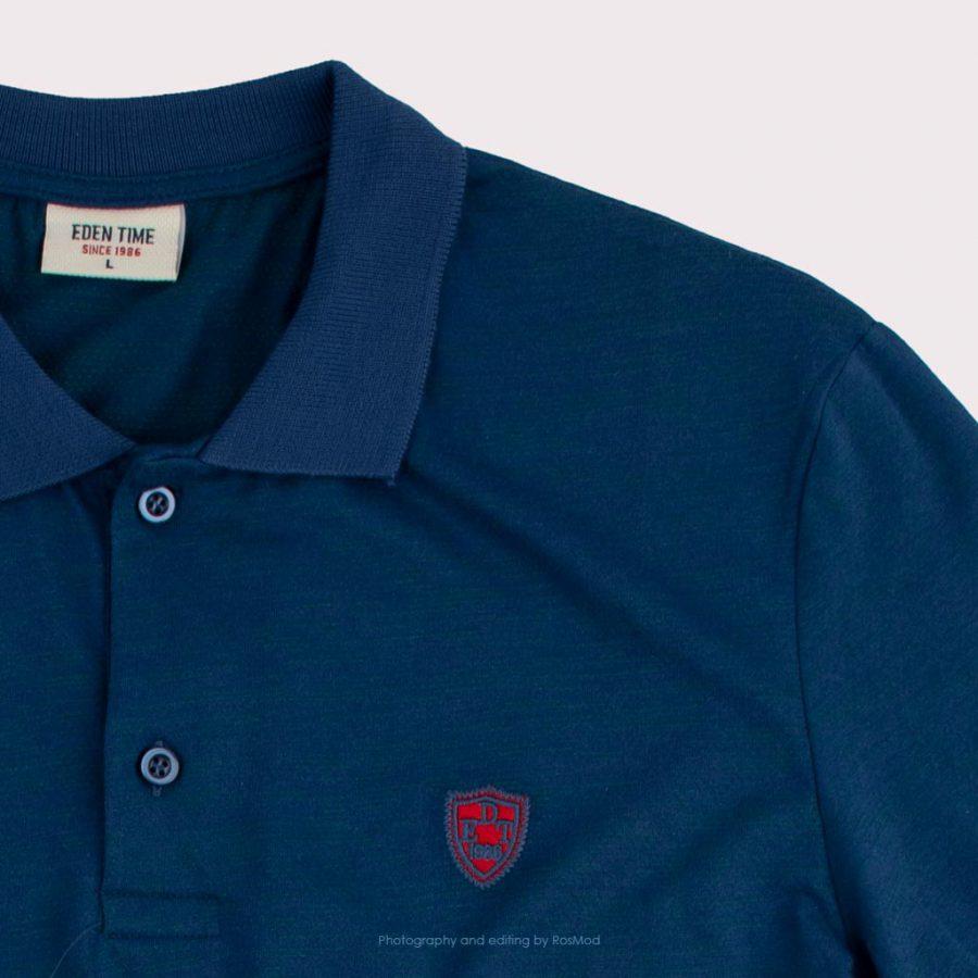 پولوشرت – Eden Time Polos Metallic Blue/Red Logo