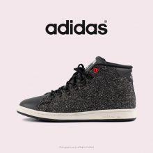 کتانی آدیداس استن اسمیت ساقدار مشکی - Adidas Stan Smith Winter Core BLK