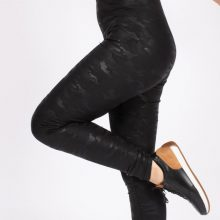 لگ طرح چرم ارتشی آگی - Agi Leather Look Leggings Army Pattern