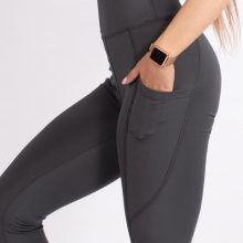 لگ اسلیم افکت جیبدار دودی قد 75 - Agi Slim Effect Leggings Fume
