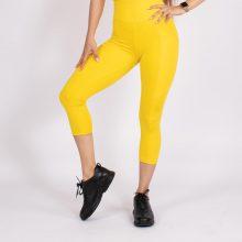 لگ اسلیم افکت جیبدار زرد قد 75 - Agi Slim Effect Leggings Sari