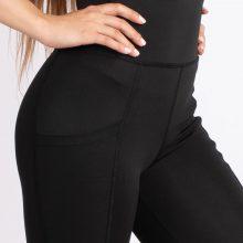 لگ اسلیم افکت جیبدار سیاه قد 75 - Agi Slim Effect Leggings Siyah