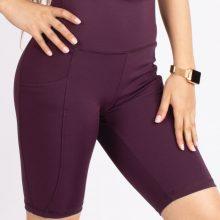 شلوارک اسلیم افکت بادمجانی - Agi Slim Effect Shorts Murdum