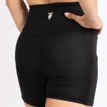 شلوارک کوتاه اسلیم افکت سیاه جیبدار - Agi Slim Effect Shorts Siyah