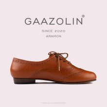 کفش هشترک گازولین آرامون عسلی - GAAZOLIN Aramon brogue Red/Orange