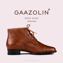 بوت گازولین عسلی مدل اصفهان - GAAZOLIN Isfahan Sparrow Brown