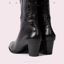بوت پاشنه دار پاپی گازولین مشکی - GAAZOLIN Poppy Ankle Boots BLK