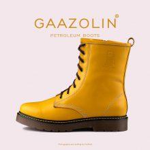 بوت پترولیوم گازولین خردلی - GAAZOLIN Petroleum Boots Mustard