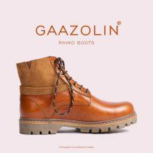 بوت راینو گازولین عسلی تیره - GAAZOLIN Rhino Boots HNY Brown