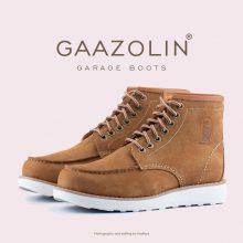بوت گاراژ گازولین نسکافه ای - GAAZOLIN Garage Boots Dark Gold