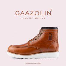 بوت گاراژ گازولین عسلی - GAAZOLIN Garage Boots HNY Brown