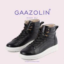 کتانی ساقدار دی جی گازولین مشکی لژ سفید - GAAZOLIN High DJ BLK WHT Sneakers