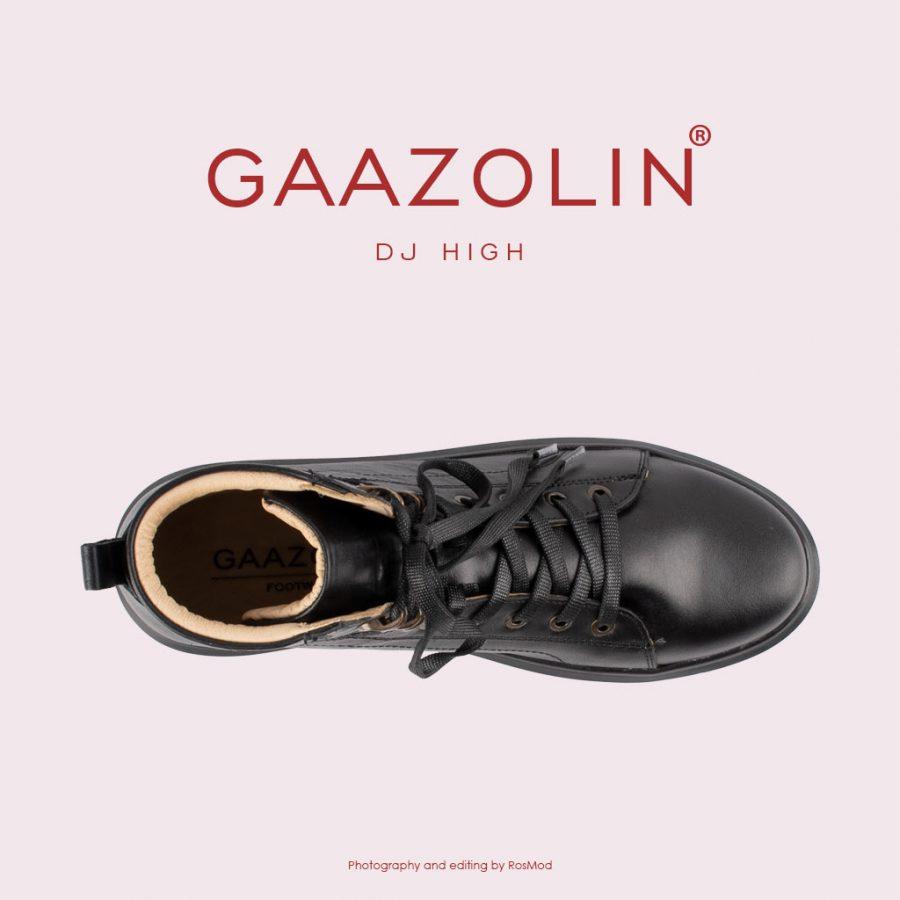 کتانی ساقدار دی جی گازولین تمام مشکی – GAAZOLIN High DJ Full Blk Sneakers