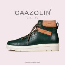 کتانی ساقدار دی جی گازولین یشمی - GAAZOLIN High DJ Green Ruby Sneakers