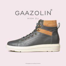 کتانی ساقدار دی جی گازولین طوسی - GAAZOLIN High DJ GRY Sneakers