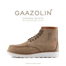 بوت گاراژ گازولین خاکی - GAAZOLIN Garage Boots Wild Mushrooms