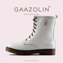 بوت پترولیوم گازولین سفید - GAAZOLIN Petroleum Boots Infinite Canvas