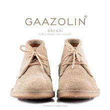 کفش صحرایی سافاری گازولین خاکی چرک - GAAZOLIN Safari Veldskoen Shoes Dirty Sand Time