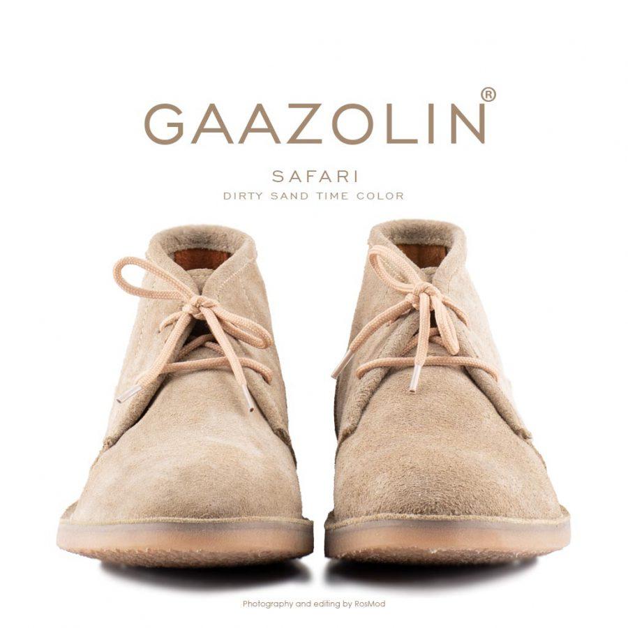 کفش صحرایی سافاری گازولین خاکی چرک – GAAZOLIN Safari Veldskoen Shoes Dirty Sand Time