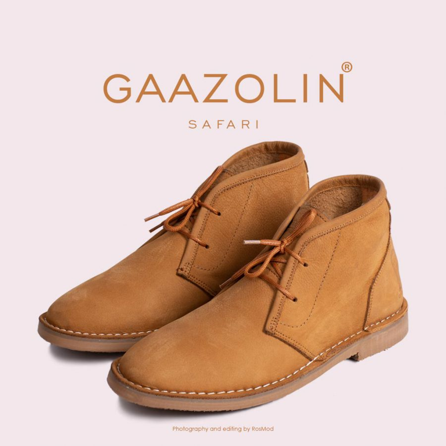 کفش صحرایی سافاری گازولین نسکافه ای – GAAZOLIN Safari Veldskoen Shoes Sahara Lunch