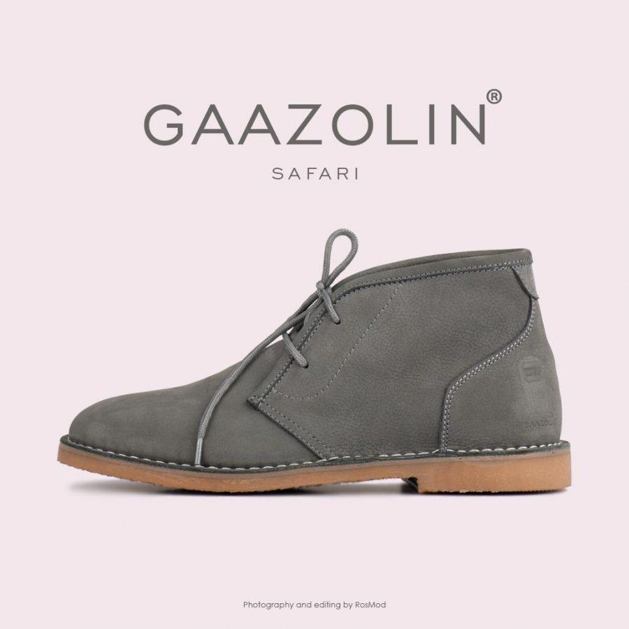 کفش صحرایی سافاری گازولین دودی – GAAZOLIN Safari Veldskoen Shoes Smoked Pearl