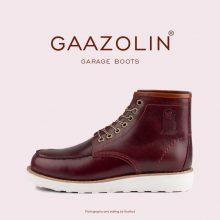 بوت گاراژ گازولین آلبالویی - GAAZOLIN Garage Boots Cherry Red