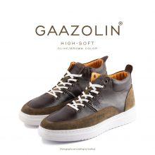 کتانی ساقدار گازولین های سافت زیتونی/شکلاتی - GAAZOLIN High Soft Olive/Brown