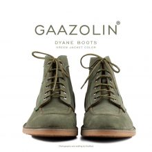 بوت ژیان گازولین ارتشی - GAAZOLIN Dyane Boots Green Jacket