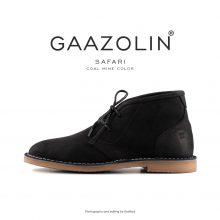 کفش صحرایی سافاری گازولین مشکی - GAAZOLIN Safari Veldskoen Shoes Coal Mine