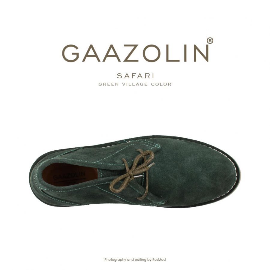 کفش صحرایی سافاری گازولین سبز چمنی – GAAZOLIN Safari Veldskoen Shoes Green Village