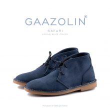 کفش صحرایی سافاری گازولین آبی اقیانوس - GAAZOLIN Safari Veldskoen Shoes Ocean Blue